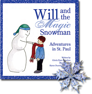 will magic snowman, st paul adventures, winter carnival, winter fun, children book, happy ending, little william